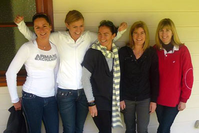 The Rural Organics Team. Janie's 5 girls: Alice, Grace, Caroline, Fiona & Chrissie.