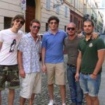 Young locals of Modena happy to pose