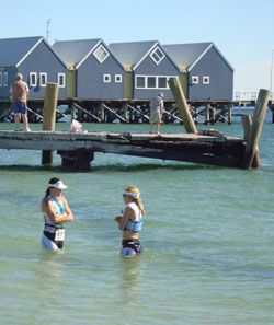 Sisters Are Doing It For Themselves....cold water immersion, that is.