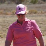 Julie McClure - resplendent in pink