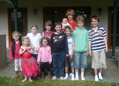Christmas 2009 - Janie's 11 grandchildren