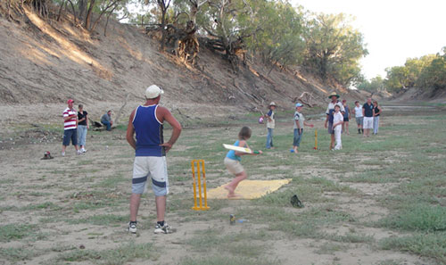 Beach cricket - Outback style!