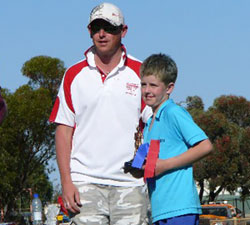 Will Ashby's win in his age group at his School Of The Air sports day, was a good omen